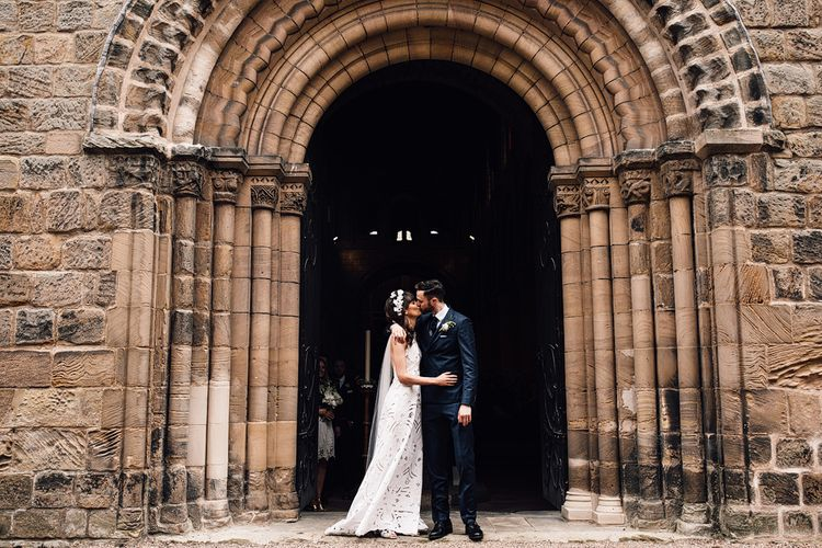 Rue De Seine Bride For A Rustic Luxe Wedding At Calke Abbey Riding School Groom In Reiss With Images By Samuel Docker Photography