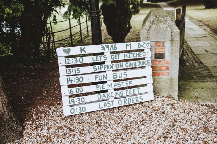 Rustic Wooden Palette Wedding Sign