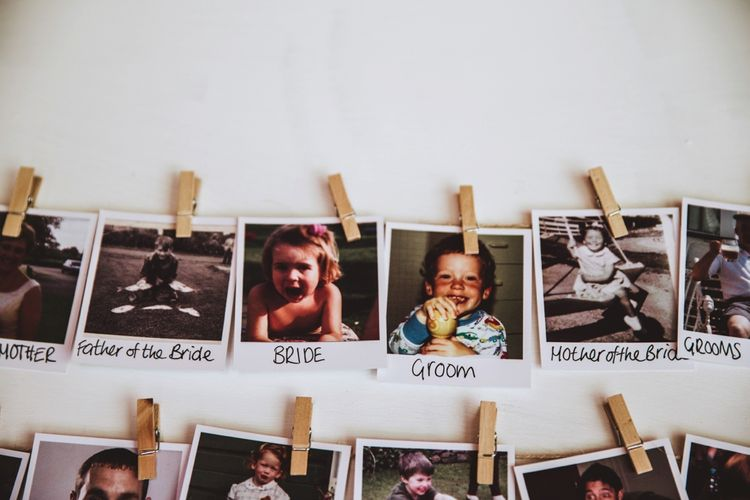 Polaroid of Guests Table Plan