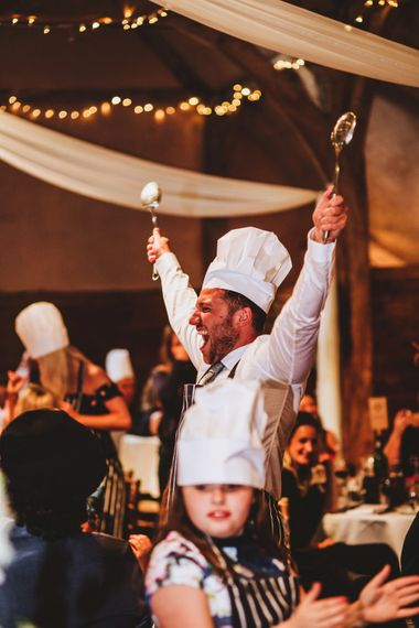 Serving Chef At Each Table For Wedding