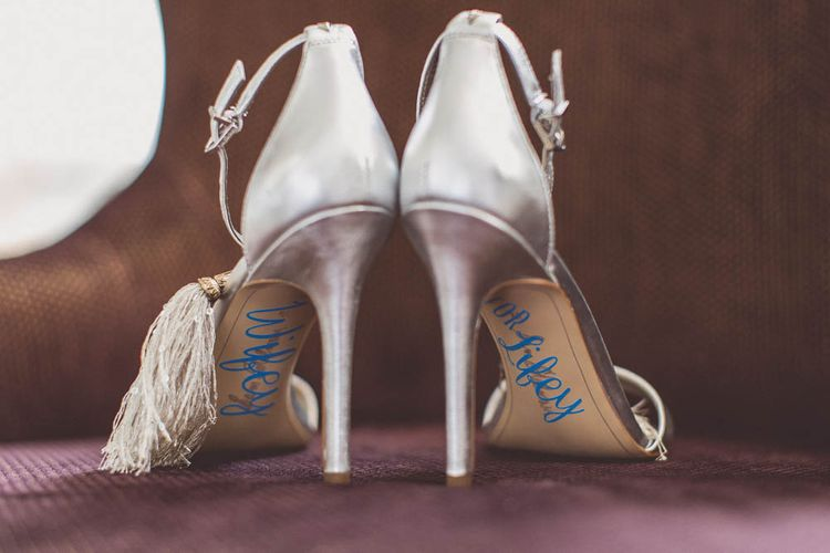 Customised Sam Edelman | Ham Yard Hotel Wedding in London Soho | WE ARE // THE CLARKES
