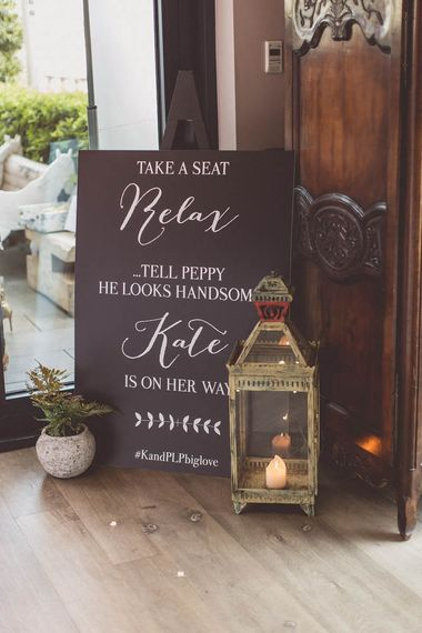 Wedding Sign | Ham Yard Hotel Wedding in London Soho | WE ARE // THE CLARKES