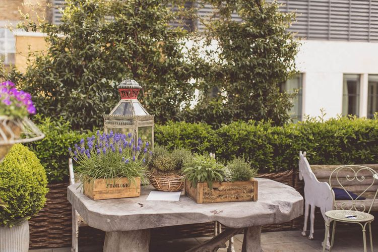 Plant Pot Wedding Decor | Ham Yard Hotel Wedding in London Soho | WE ARE // THE CLARKES