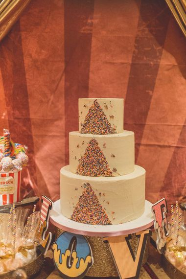 Hummingbird Bakery Wedding Cake | Ham Yard Hotel Wedding in London Soho | WE ARE // THE CLARKES