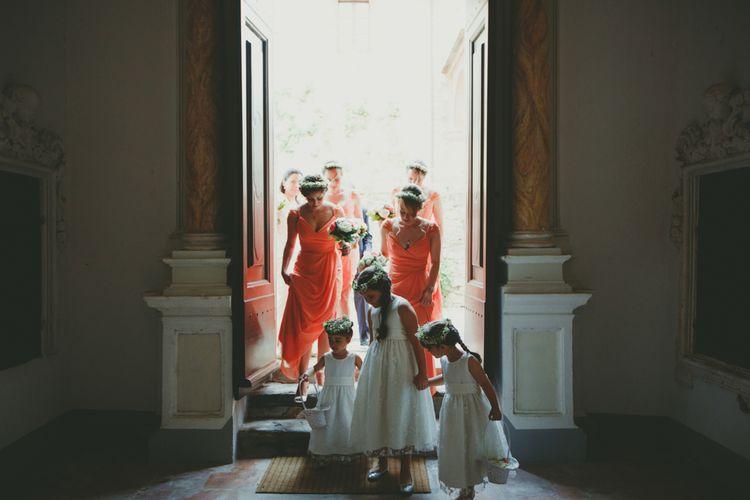 Jim Hjlem Coral Bridesmaid Dresses