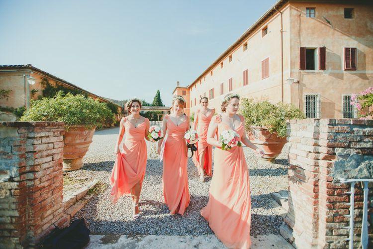 Coral Jim Hjlem Bridesmaid Dresses