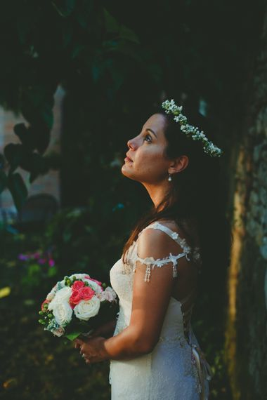 Bride in Terry Fox Wedding Dress