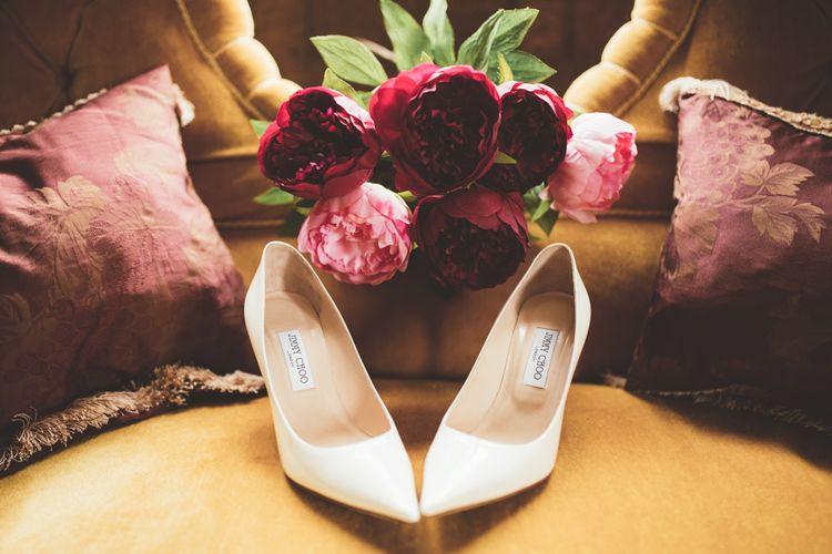 Jimmy Choo Bridal Shoes | Maryanne Weddings Photography