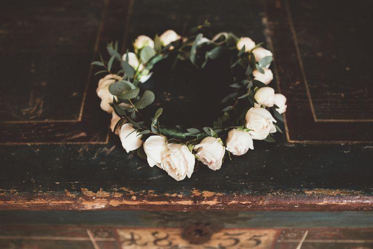 Blush Pink Rose Flower Crown | Maryanne Weddings Photography