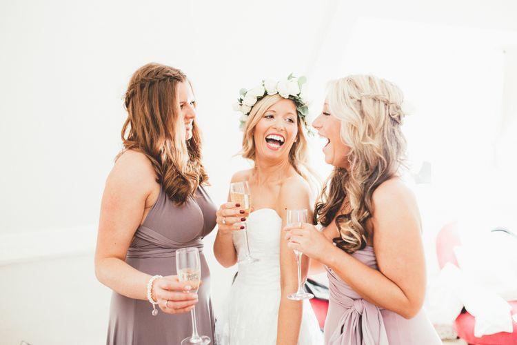 Bride & BridesmaidsBlush Pink Rose Flower Crown | Maryanne Weddings Photography