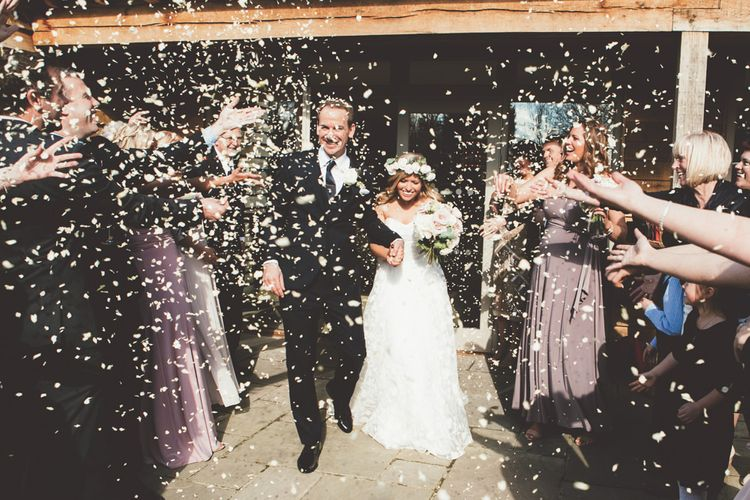 Confetti Moments | Bride in Kate Halfpenny London Eseme Bridal Gown | Maryanne Weddings Photography