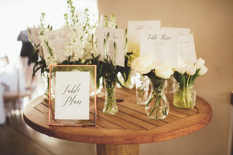 Vase Table Plan | Maryanne Weddings Photography