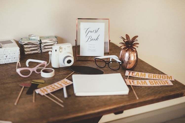 Polaroid Guest Book & Props | Maryanne Weddings Photography