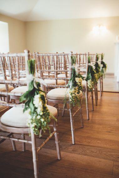 Aisle Chair Decor | Maryanne Weddings Photography
