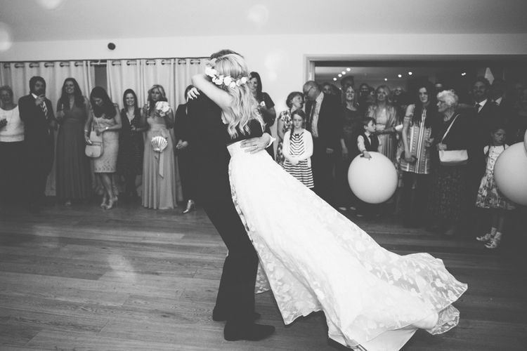 First Dance | Bride in Kate Halfpenny London Eseme Bridal Gown | Maryanne Weddings Photography