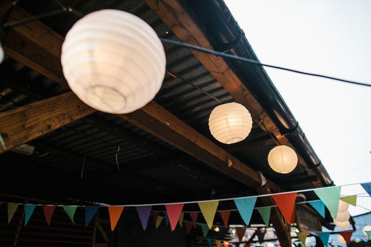 Hanging Paper Lanterns & Colourful Bunting