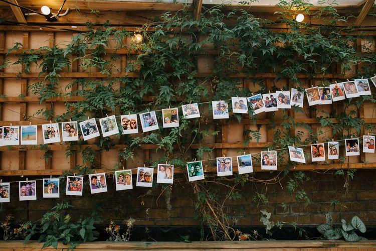 Polaroid Picture Bunting Wedding Decor