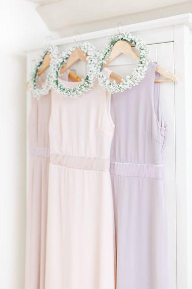 Pink Hued ASOS Bridesmaid Dresses | Romantic Pastel Wedding at Cripps Barn | White Stag Wedding Photography | Dan Hodge Wedding Films