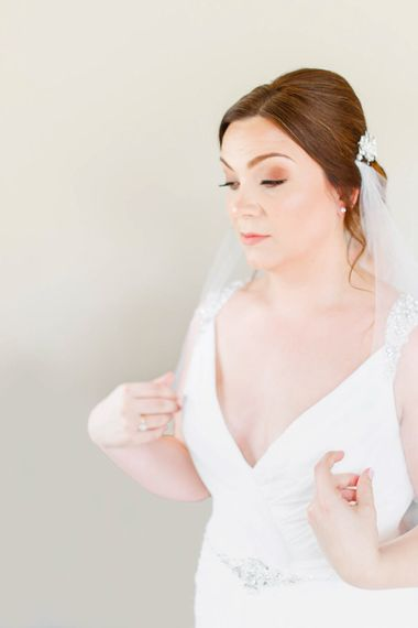 Bridal Preparations | Bride in Ellis Bridal Gown | Romantic Pastel Wedding at Cripps Barn | White Stag Wedding Photography | Dan Hodge Wedding Films