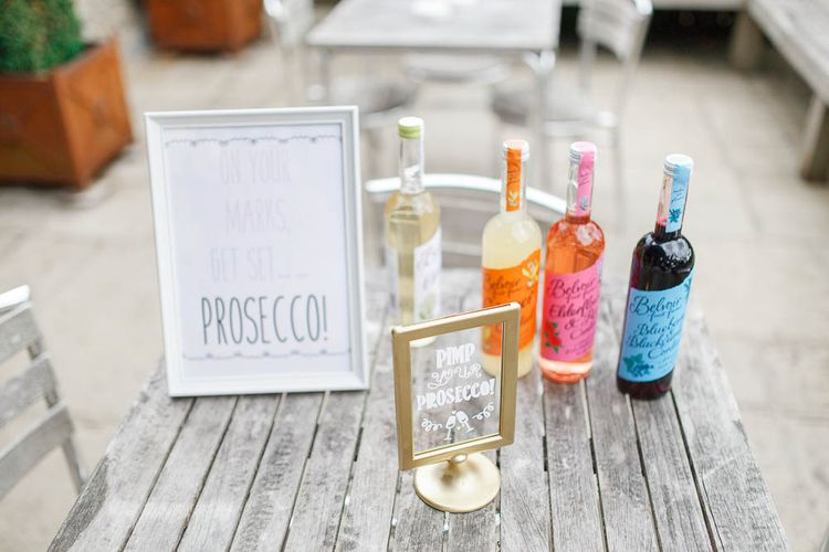 Pimp Your Prosecco Bar | Romantic Pastel Wedding at Cripps Barn | White Stag Wedding Photography | Dan Hodge Wedding Films