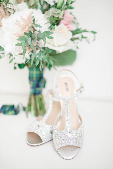 Paradox London Pink Bridal Shoes | Romantic Pastel Wedding at Cripps Barn | White Stag Wedding Photography | Dan Hodge Wedding Films