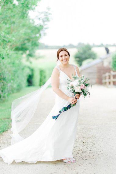 Bride in Ellis Bridal Gown | Romantic Pastel Wedding at Cripps Barn | White Stag Wedding Photography | Dan Hodge Wedding Films