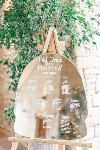 Mirror Table Plan | Romantic Pastel Wedding at Cripps Barn | White Stag Wedding Photography | Dan Hodge Wedding Films