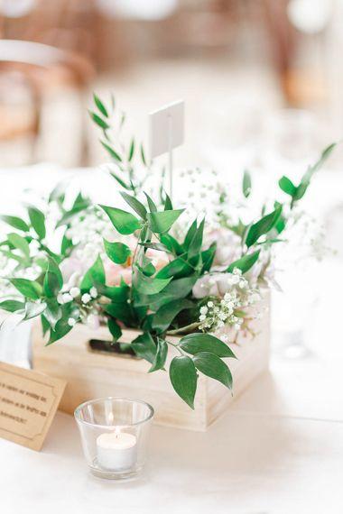 Crate Wedding Decor | Romantic Pastel Wedding at Cripps Barn | White Stag Wedding Photography | Dan Hodge Wedding Films