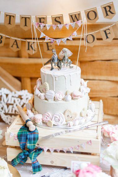 Drip Wedding Cake | Romantic Pastel Wedding at Cripps Barn | White Stag Wedding Photography | Dan Hodge Wedding Films