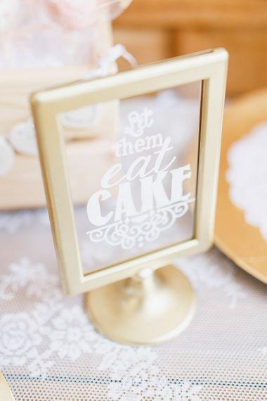 White Ink Wedding sign | Romantic Pastel Wedding at Cripps Barn | White Stag Wedding Photography | Dan Hodge Wedding Films