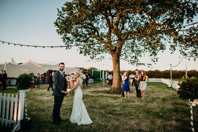 Outdoor Stretch Tent Wedding With Italian Antipasti Feast And Hay Bale Seating With Images From Ania Ames Wedding Photography