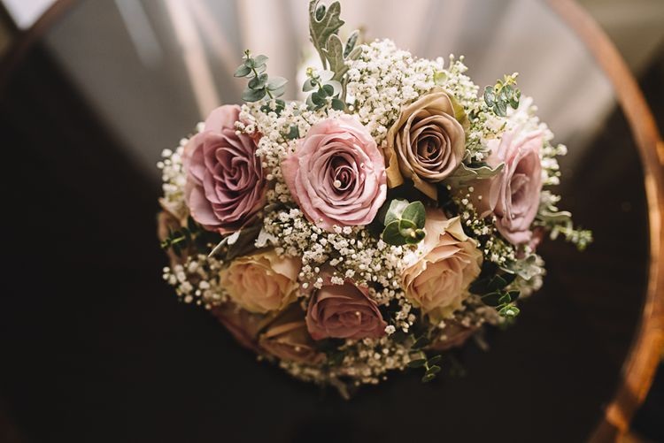 Dusky Pink & Gypsophila Wedding Bouquet | Lucie Watson Photography | TDH Media Films