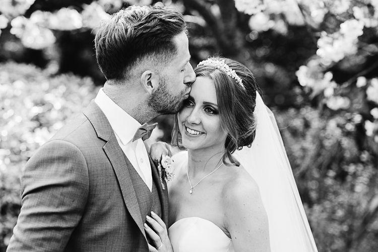 Bride in Ronald Joyce Wedding Dress | Groom in Grey Moss Bros Suit | The Orangery Maidstone | Lucie Watson Photography | TDH Media Films