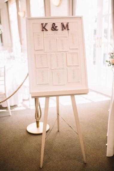 Table Plan | Wedding Decor | The Orangery Maidstone | Lucie Watson Photography | TDH Media Films