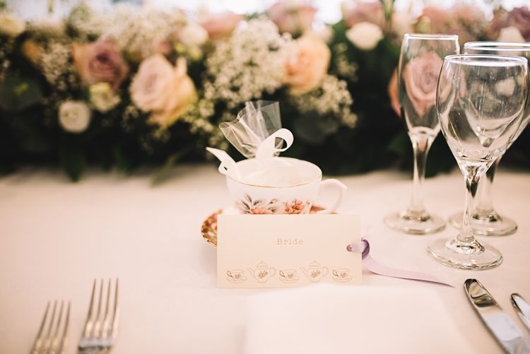 Tea Cup Place Setting | The Orangery Maidstone | Lucie Watson Photography | TDH Media Films