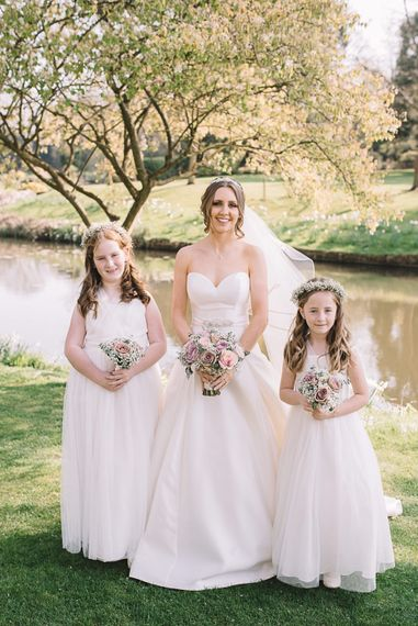 Flower Girls in Yours Truly Dresses | Bride in Ronald Joyce Wedding Dress | The Orangery Maidstone | Lucie Watson Photography | TDH Media Films