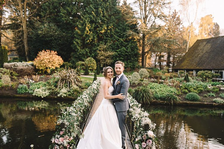 Bride in Ronald Joyce Bridal Gown | Groom in Grey Moss Bros Suit | The Orangery Maidstone | Lucie Watson Photography | TDH Media Films
