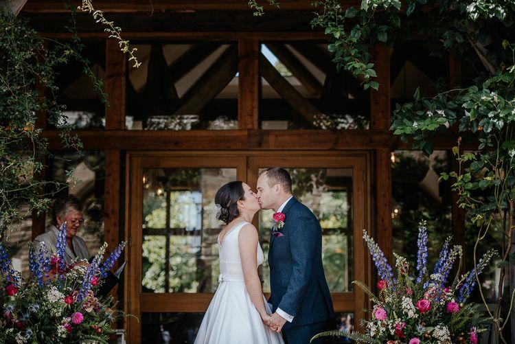 Outdoor Wedding Ceremony At Nancarrow Farm Cornwall