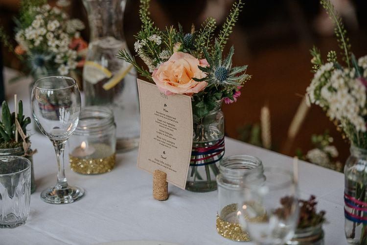 Jam Jar Flowers Wedding Reception