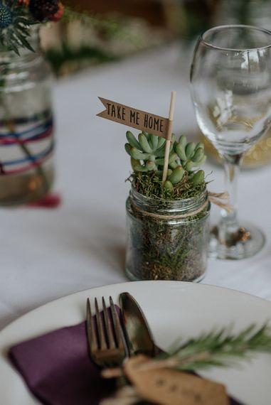 Succulent Wedding Favours
