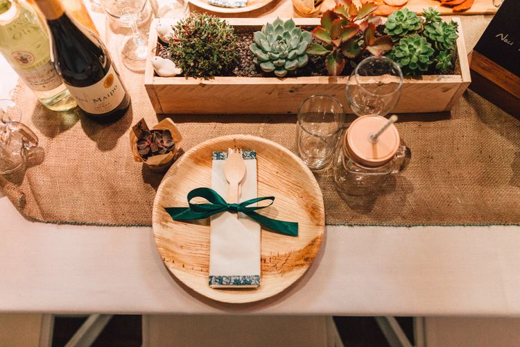 Rustic Wedding Table Scape at The Pickle Factory
