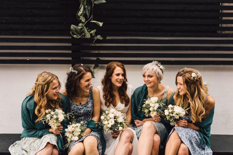 Bridesmaids In Liberty Print Dresses