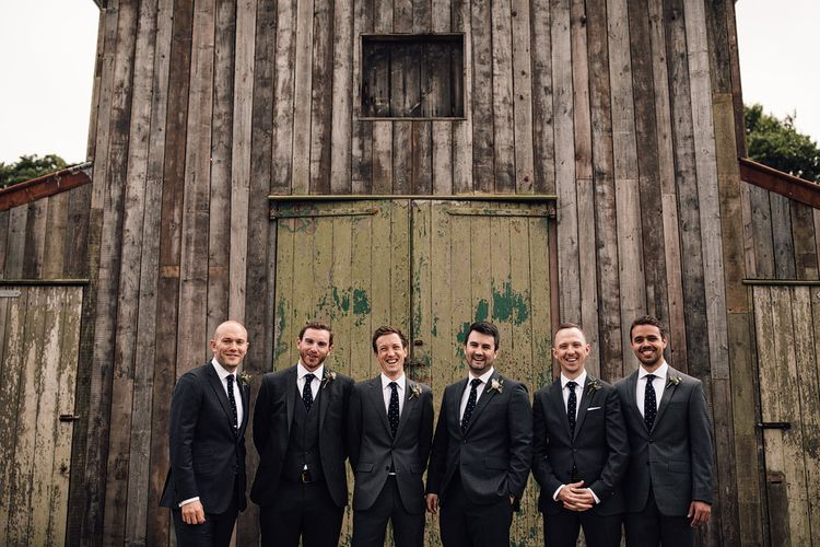 Groomsmen | Rustic Barn Wedding at Nancarrow Farm, Cornwall | Samuel Docker Photography
