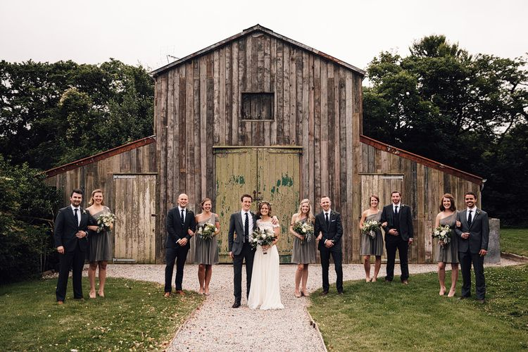 Wedding Party | Rustic Barn Wedding at Nancarrow Farm, Cornwall | Samuel Docker Photography