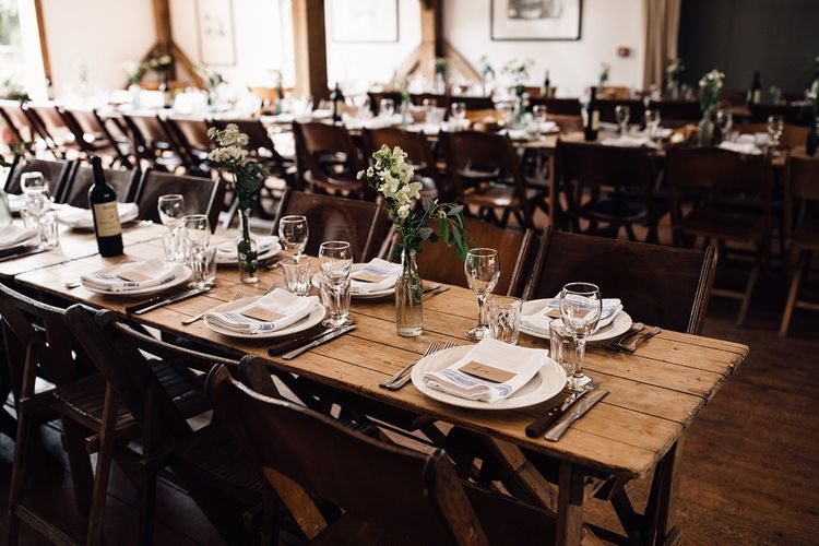 Tablescape | Rustic Barn Wedding at Nancarrow Farm, Cornwall | Samuel Docker Photography