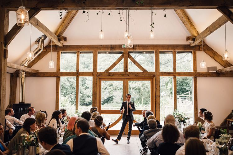 Speeches | Rustic Barn Wedding at Nancarrow Farm, Cornwall | Samuel Docker Photography
