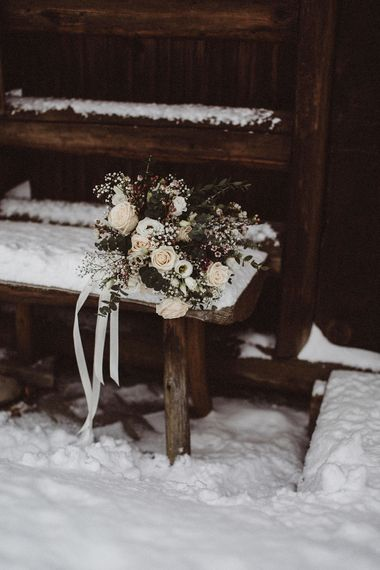 Winter Bouquet For A Snowy Winter Wedding In Bavaria