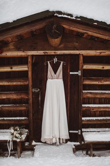 Sequin Bodice Bridal Gown by Truvelle