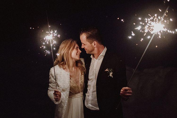 Sparkler Send Off For Wedding