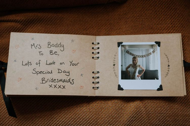 Bride Present | Colourful DIY Barn Wedding at The Manor Barn, Cambridge | Meghan Lorna Photography